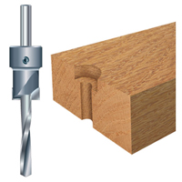 counterbores with drill bit