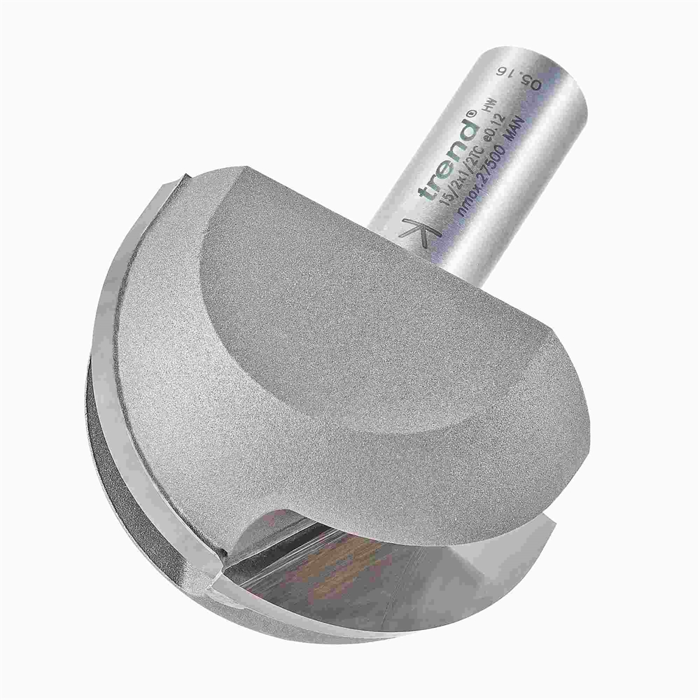 15/2X1/2TC - Cove cutter 25.4mm radius