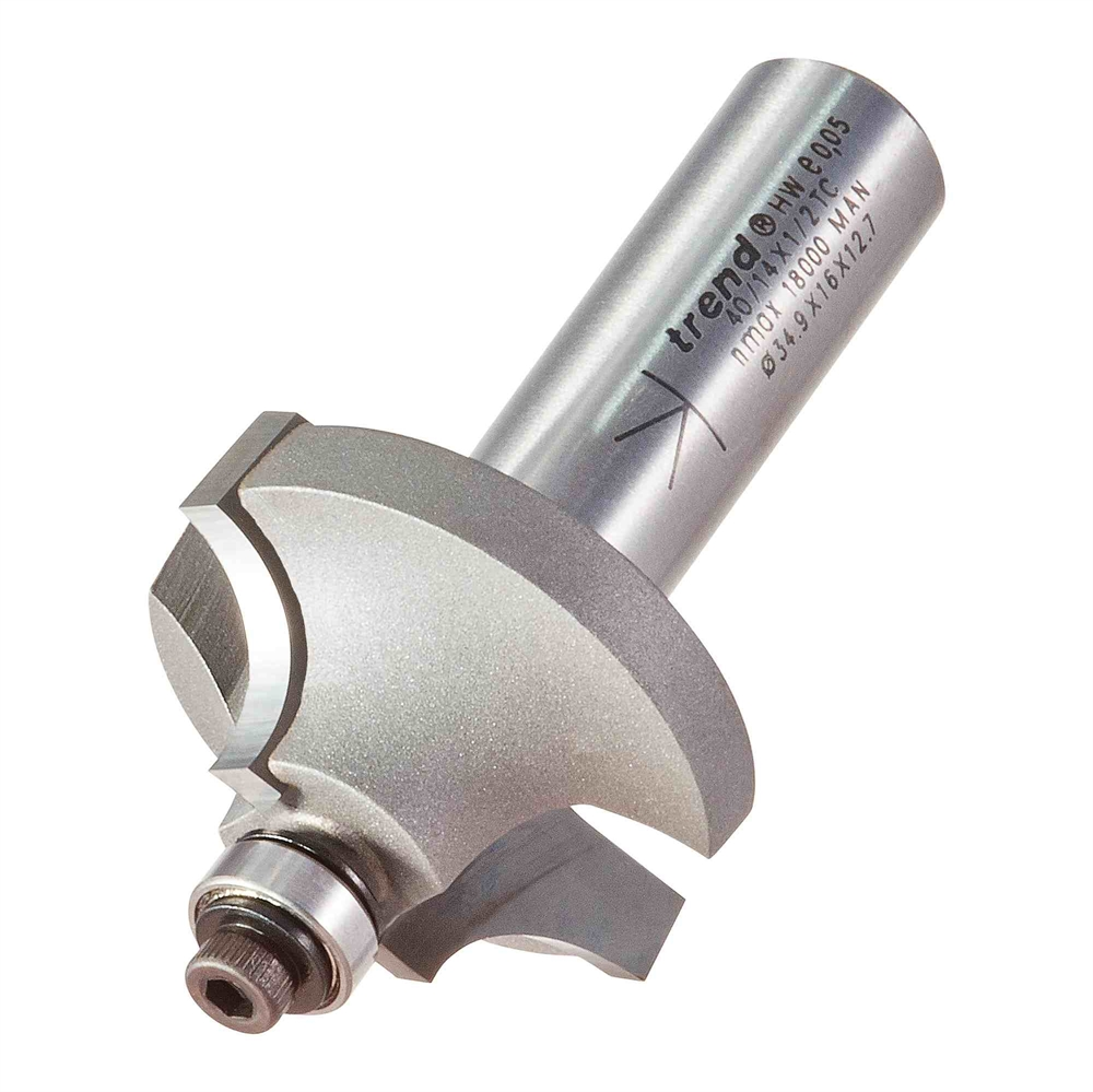 40/14X1/2TC - Bearing guided ovolo cutter 9.5mm radius