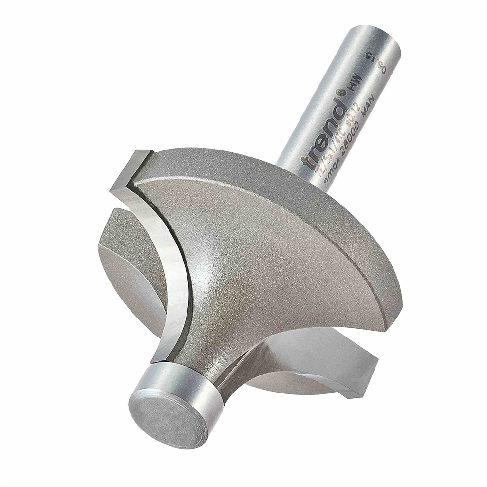 7E/5X1/4TC - Pin guided round over cutter
