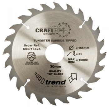 CSB/30024 - Craft saw blade 300mm x 24 teeth x 30mm
