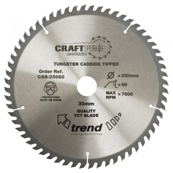 CSB/19060 - Craft saw blade 190mm x 60 teeth x 30mm