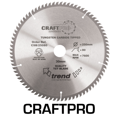CSB/25080 - Craft saw blade 250mm x 80 teeth x 30mm