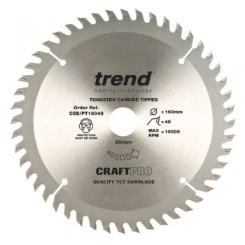 CSB/PT16048 - Craft saw blade panel trim 160mm x 48 teeth x 20mm
