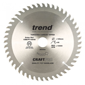 CSB/PT16548 - Craft saw blade panel trim 165mm x 48 teeth x 20mm