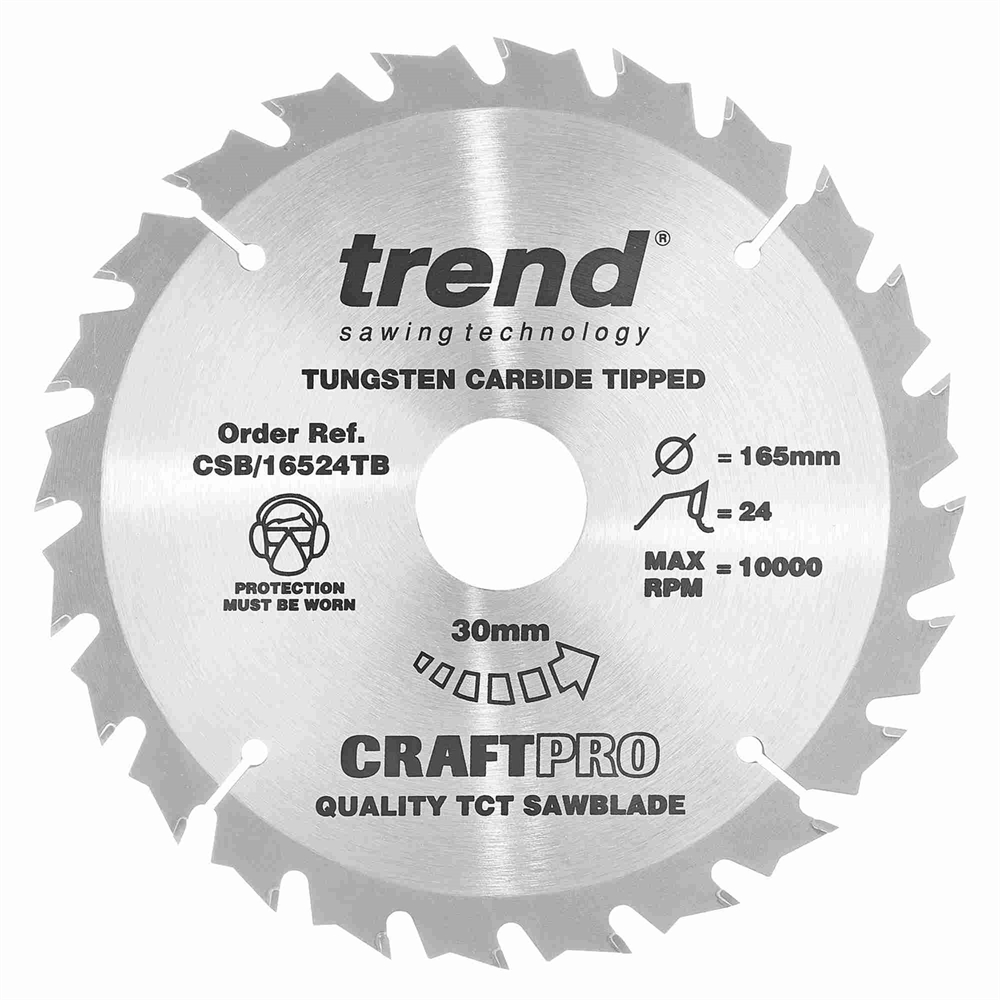 CSB/16524TB - Craft saw blade 165mm x 24 teeth x 30 thin