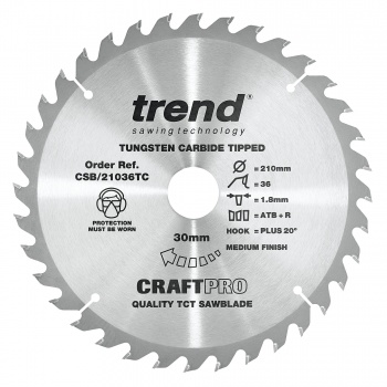 CSB/21036TC - Craft saw blade 210mm x 36 teeth x 30 x 1.8 for DCS7485