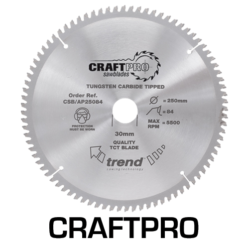 CSB/AP13630T - Craft saw blade aluminium and plastic 136 x 30 teeth x 10 thin