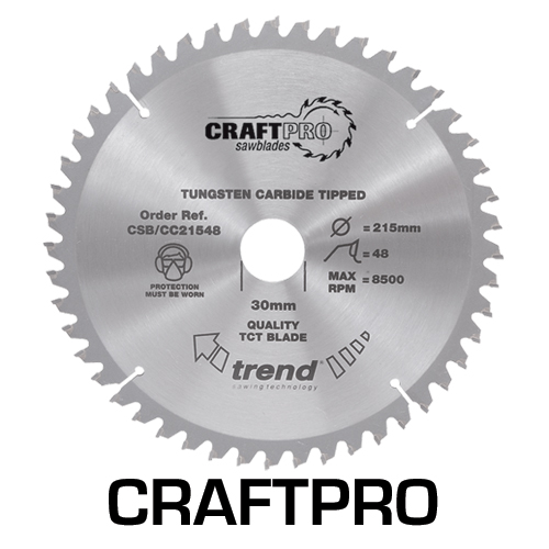 CSB/CC18424T - Craft saw blade crosscut 184mm x 24 teeth x 16mm thin