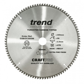 CSB/CC30596 - Craft saw blade crosscut 305mm x 96 teeth x 30mm