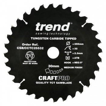 CSB/CCTC25532 - Craft Crosscut Non Slip 255mm x 32 teeth x 30mm