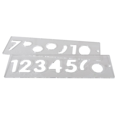 TEMP/NUC/57 - Template set number 57mm uppercase